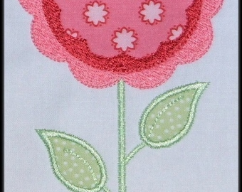 INSTANT DOWNLOAD Mod Flower Blooms Applique designs