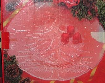 Vintage Mikasa  Crystal Christmas Tree Serving Platter c1980