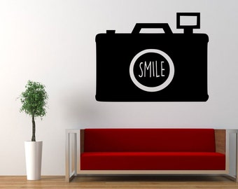Camera, Photography, Smile, Capture Life, Focus,  Wall Art Vinyl Decal Sticker
