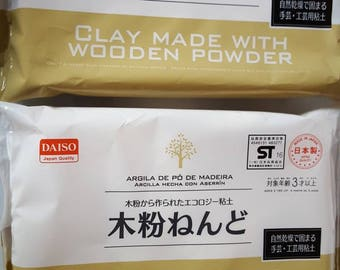 1 pack Clay with Wooden Powder Daiso Japan