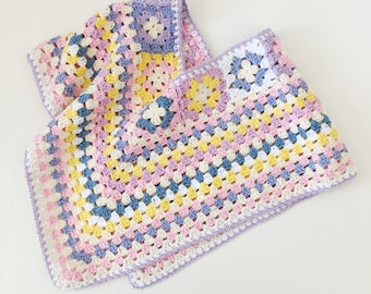 Crochet poncho for girl in 100% soft cotton | Size 2/3