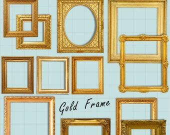 Picture Frame Clipart, Digital Picture Frames, Frame Clip Art, Vintage Picture Frame, Ornate Picture Frame, Scrapbooking