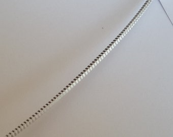 1 ft Solid Sterling Silver 925 patterned spuare wire wire 1.70 mm/ 14 Ga