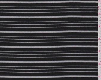 Black Burnout Stripe Organza, Fabric By The Yard