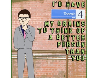 Melbourne Card - I'd Have Toorak My Brains To Think Of A Better Person Than You