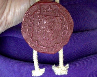 Medieval resin replica of the wax seal of Anne of Bohemia, wife of King Richard II of England