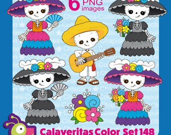 Day of the dead clipart, skeleton, calaveritas, Catrina, Dapper Skeleton, musician, guitar, Día de Muertos, Set 148