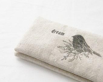 Lavender Sachet Sleep Pillows, Woodland Bird Dream Happiness, Natural Decor