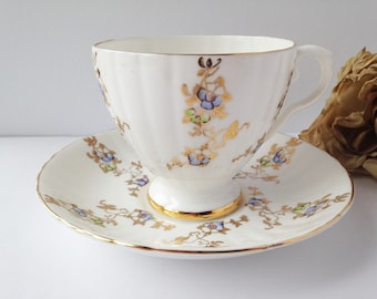 Royal Grafton Tea Cup and Saucer / Cup and Saucer / Royal Grafton Teacup / Tea Party / Gold Teacup