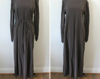 Back to Basics Dress - 90s Linda Lundstrom designer luxury tencel shift dress, medium