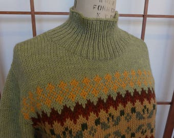 Vintage Hand Knitted Wool Sweater