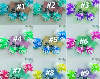 lilac earrings, flower earrings, blue lilac earrings, gift for her, lilac ring, lilac pendant, green bride jewellery, lilac earrings