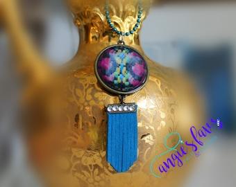 Ball Chain Necklaces, Kaleidoscope and Fringe Pendant
