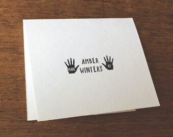 Gift for Her, Custom Handmade By Stamp, Handprint Made By Stamp, Craft Stamp, Rubber Stamp, Self-Inking Stamp