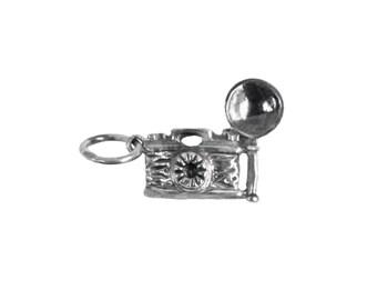 Vintage Camera Sterling Silver Charm
