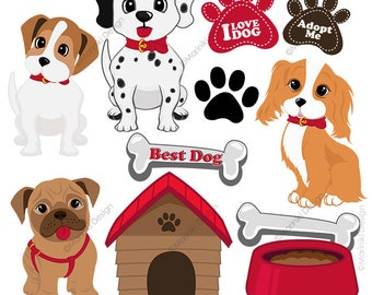 dog clipart etsy rh etsy com dogs clipart pictures hot dogs clipart