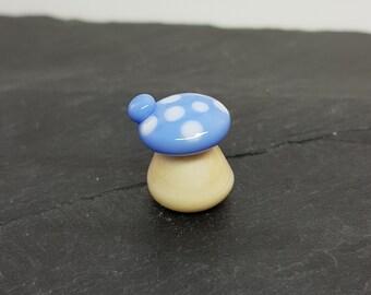 Handmade Lampwork Glass Toadstool Ornament SRA
