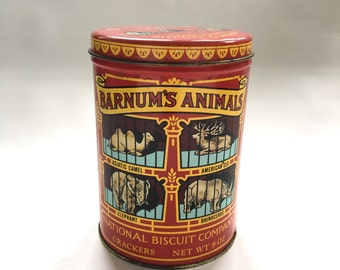 Vintage 1979 Barnum's Animals Reproduction Cookie Canister
