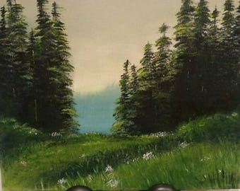 11x14 in original landscape painting, landscape,  original painting,  custom painting