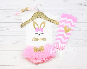 Girl's Easter Outfit, First Easter Outfit, 1st Easter Outfit, Easter Onesie, 1st Easter, Girls Personalized Easter, Baby Girl Easter Shirt