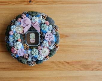 Door Wreath,Spring Wreath,Door Decor,Custom Front Door Wreath S005