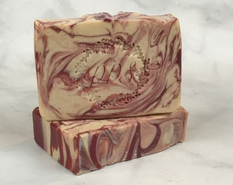 Cranberry Soap - Goat Milk Soap - Handmade Soap - Coldprocess Soap - Skin Care - Gift for Dad - Gift for Mom