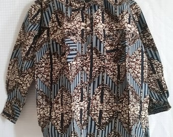 Long sleeves Kitenge shirt in XL size