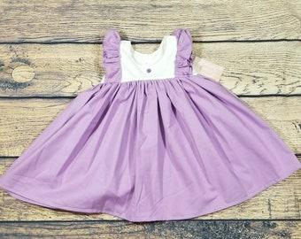 Lavender dress- toddler Easter dress- purple dress- lavender spring dress- purple spring dress-  Easter dress- toddler spring dress