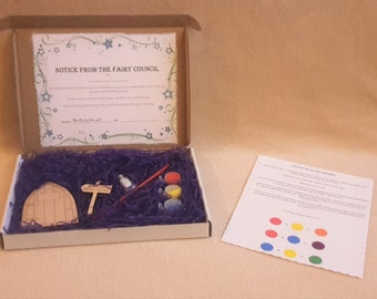 Childrens craft kit etsy fairy door kit paint your own fairy door craft kit do it yourself fairy solutioingenieria Gallery