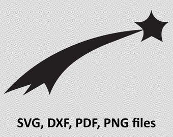 Star SVG/ Star DXF/ Star Clipart/ Star Files, printing, Star cutting, Star silhouette, Star vector, Star files, flying star, stars svg