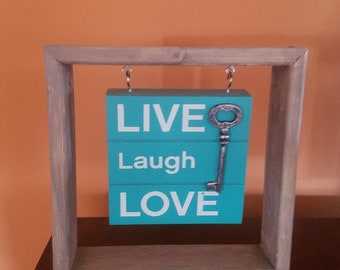 Live Love Laugh wall hanging