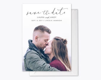 Timeless Love Photo Save the Date printable