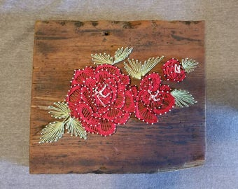 St. Therese's Roses - String Art