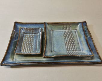 BLUE Sushi plates and bowls