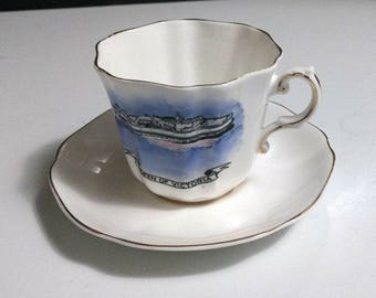 Vintage Royal Grafton Fine Bone China of England Queen of Victoria Tea Cup & Saucer Set RARE