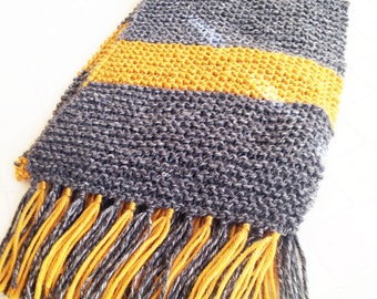 Wizarding Cosplay Scarf, Grey and Gold