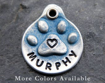 Custom Dog Tags for Dogs Personalized Pet ID Tag Dog Tag Pets Accessories Paw Prints Hearts Gifts for Dogs