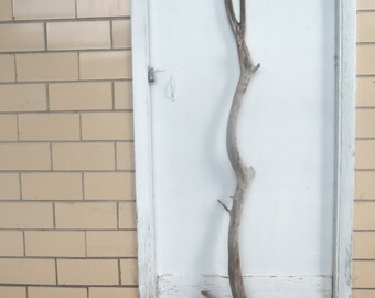 Rustic Weathered Wood Branch - Free Hanging Closet Branch - Coat Rack Wood Branch