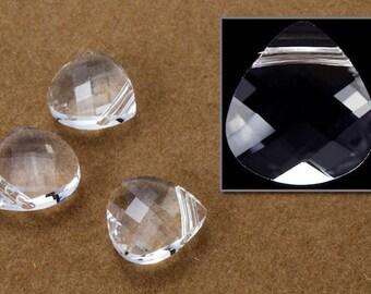 Swarovski 6012 10mm x 11mm Crystal Flat Briolette Pendant