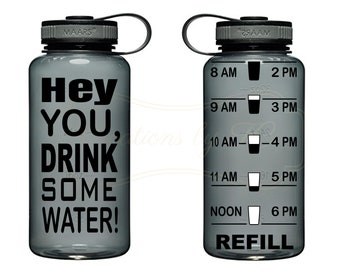 Hey you Drink Some Water Water Bottle