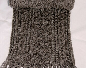 """Pure Qiviut Luxury: Scarf """"Mayne Island"""", hand knit in pure undyed qiviut (underdown of the muskox) - MADE TO ORDER"""