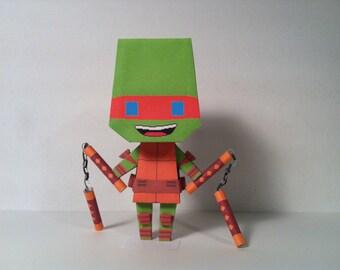 TMNT 2012 Mikey Papercraft