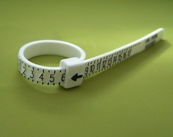 Ring Sizer, Plastic Ring Size Finder