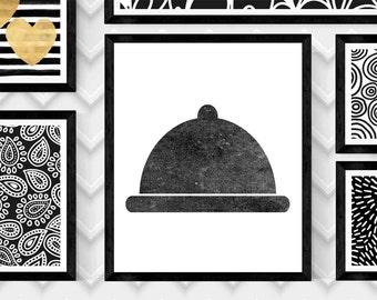 """KITCHEN Art Print,COVERED DISH Print,Kitchen Wall Art,Digital Kitchen Print,Kitchen Print, 20""""x24"""" Digital Download Print,Digital Art"""