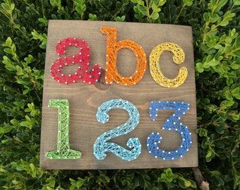 ABC 123 String Art