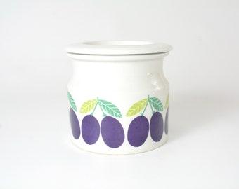 Arabia of Finland Jam Jar - Pomona Series - Mid Century Modern Scandinavian - True Vintage