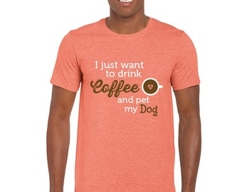 T-Shirt Coffee and Dog