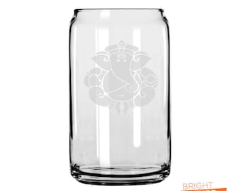 Round Gansha - Etched 16oz Can Glass - The superior drinking glass, perfect for what ever your beverage of choice is!