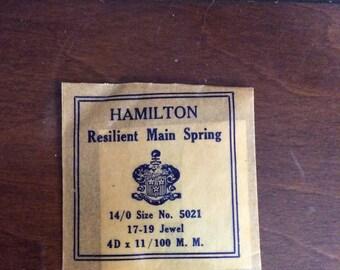 Hamilton Resilient Main Spring