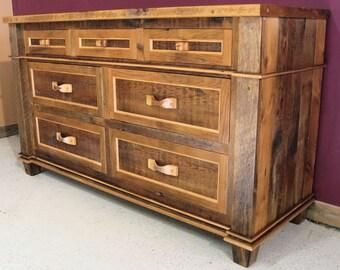 Antique Barnwood 7 drawer Dresser